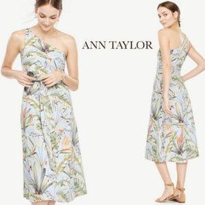 Ann Taylor blue jungle toga dress🦒🐒🌴